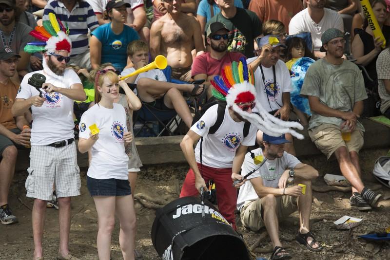 Jackson Kayak factory cheering squad