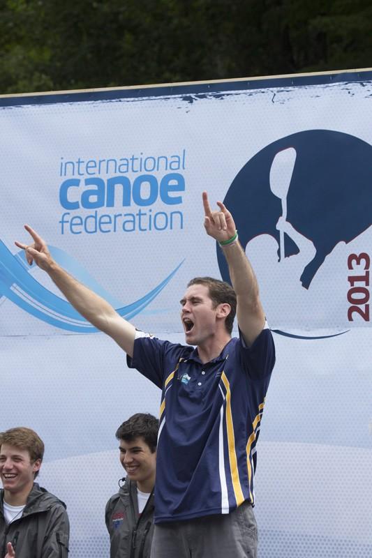 Jez (AUS) so happy to win bronze