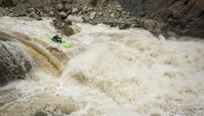 Aniol Serrasolses charges into a huge rapid on the rio Huallaga.