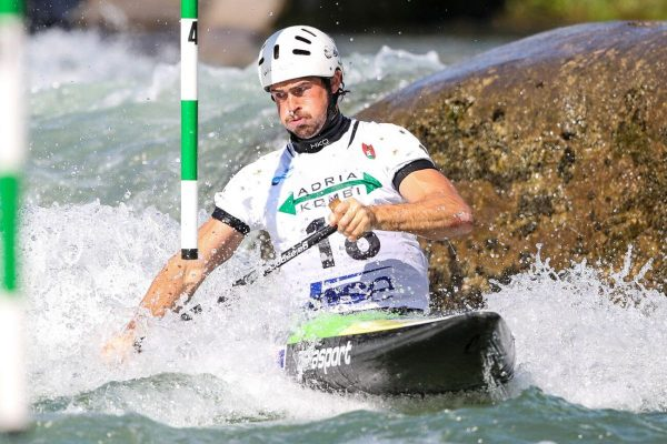daniel watkins in tacen slovenia during the iCF kayak slalom world cup 2019