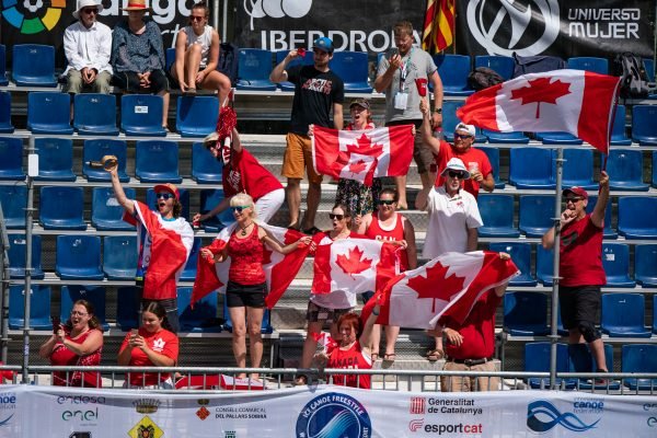 Canadian pride is rampant in the grandstands.