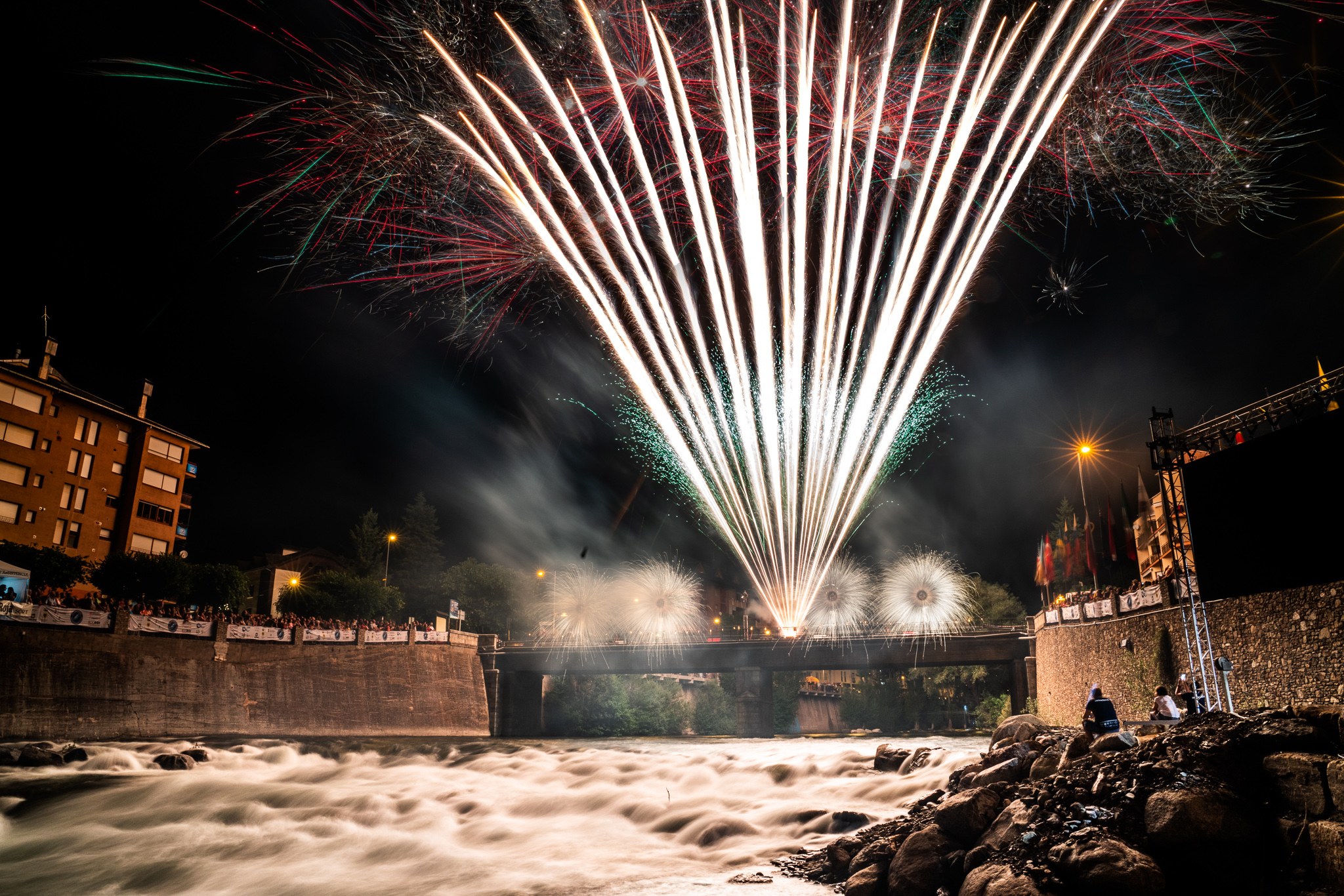 Fireworks ICF Freestyle Worlds 2019 ©Peter Holcombe/ kayaksession.com