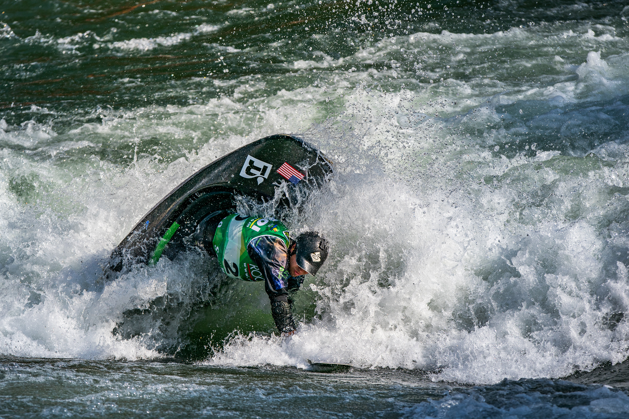 Jorden Poffenberger, from the USA, takes third place in the C1 championships