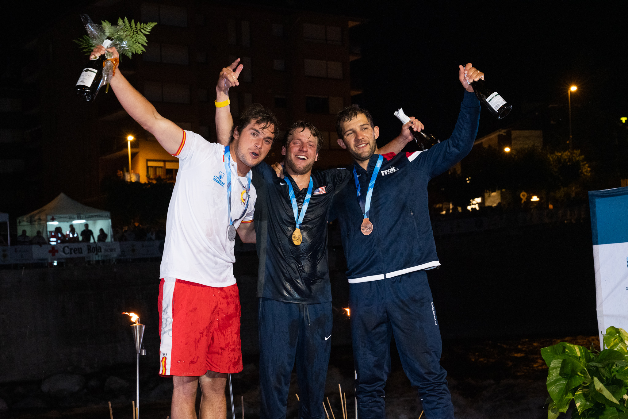 Joaquim Fontane (Spain), Dane Jackson (USA), Sebastien Devred (France) ©Peter Holcombe: kayaksession.com