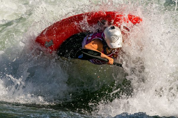 Junior women's silver medalist 'OMG' Olivia McGinnis (USA). ©Peter Holcombe:kayaksession.com