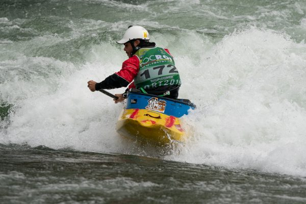 Local paddler Adria Bosch Roca took 4th tonight in the OC1 finals.