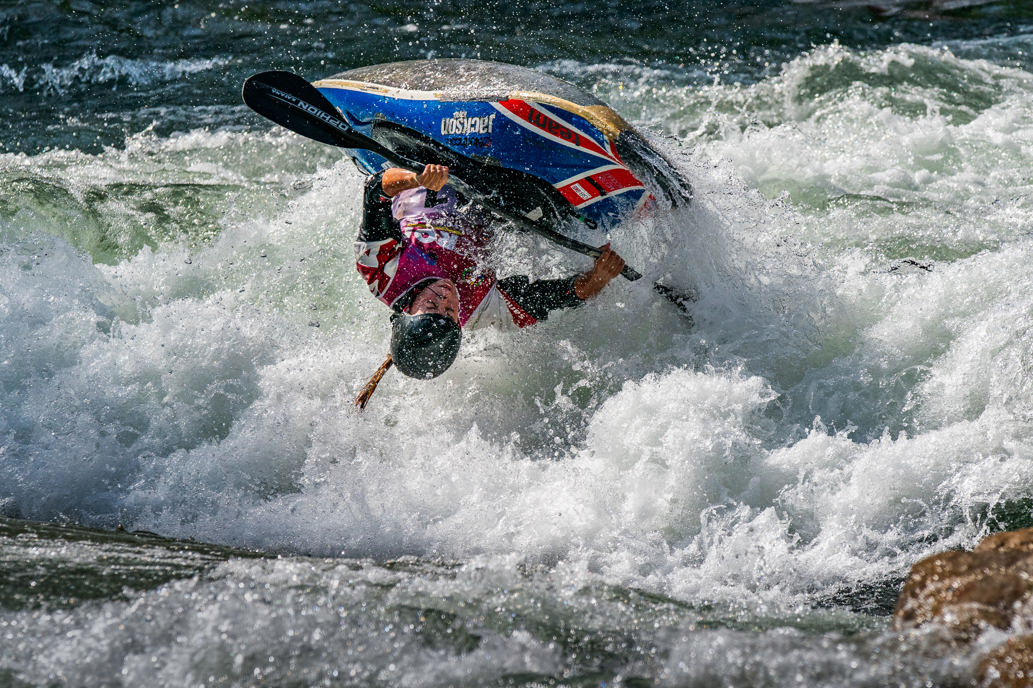Ottlie Robinson-Shaw (GBR) flies high and retains her title of world champion. ©Peter Holcombe:kayaksession.com