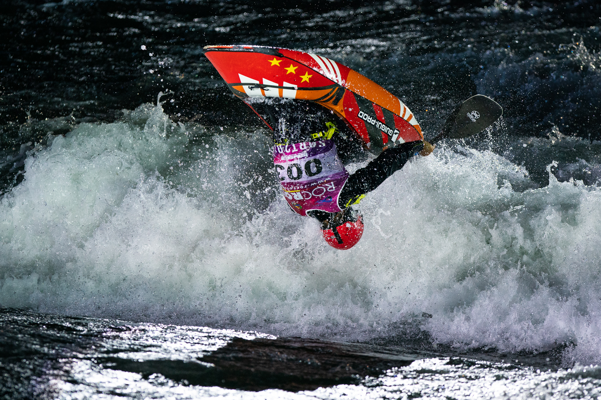 Steazy. Sebastien Devred (France) going huge and super smooth ©Peter Holcombe: kayaksession.com