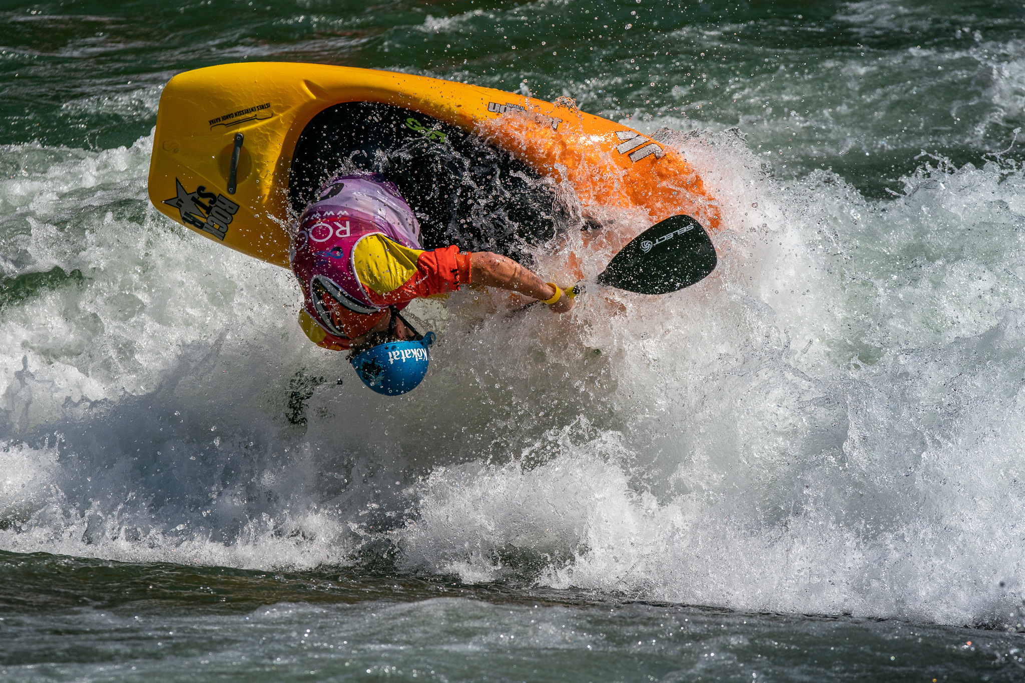 Tom Dolle from France takes 3rd in the quarter final rounds. ©Peter Holcombe:kayaksession.com