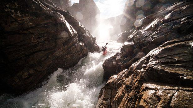 Nouria Newman paddling engano River.