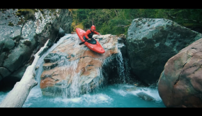 whitewater kayak sliding on a rock kayak session magazine as part of the 2019 short film awards