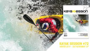 Promotional Image featuring the cover of Kayak Session magazine #72, Winter 2019