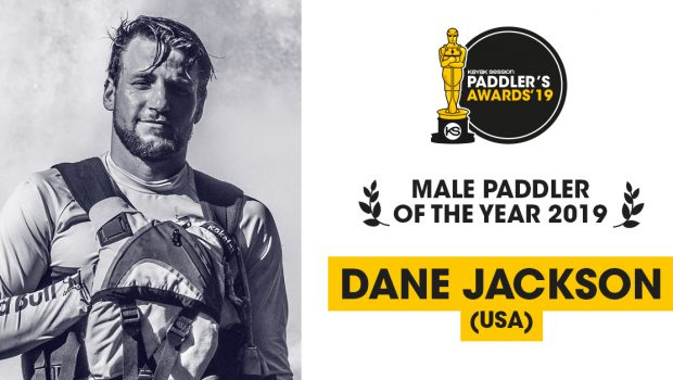 Dane Jackson voted by kayak session mag 2019 Paddler of the Year