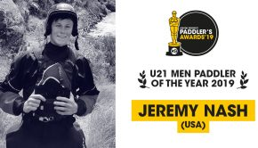 Jeremy Nash voted U21 Paddler of the year 2019.