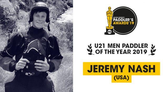 Jeremy Nash voted U21 Paddler of the year 2019.