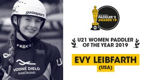 Evy Leibfarth winner of the kayak session Paddlers awards 2019 in the U21 women category
