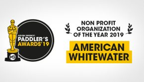 American Whitewater winner of the Paddlers Awards 2019 in the non-profit category