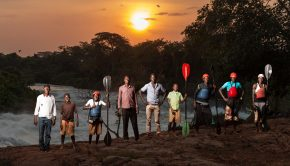 Students and teachers of the Bubugo Banana kayak school in Uganda ©tommy hathwell