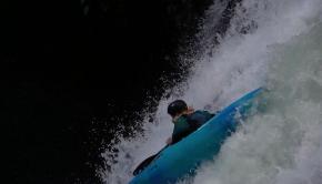 Canadian paddler Jack Shanlin sending a waterfall