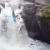 Scottish rider Jack Watt throwing a freewheel off a waterfall in his kayak in Italy