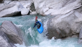 17 years old Czech Paddler Jan Němec whitewater kayaking in the european alps