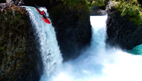 Ignacio kaskovic kayak a waterfall in chile