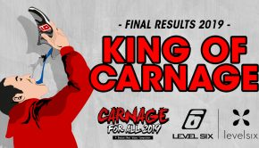 "Carnage for all video contest final results. In the king of carnage category, the winner is ""Beater on Ashlu's 50/50"" by dave wortley"