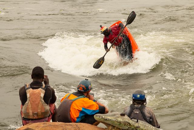Sadat Kawawa On Itanda Hole during the 2020 Ugandan Freestyle Championships