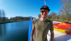 Belgium rider Braam Peeters who excels in both competitive Slalom and Creeking.