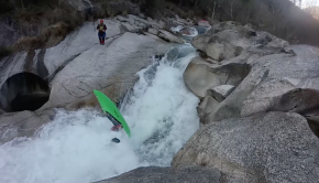 Dima Veselov run a drop backwards landing on a rock, sending a nasty back piton... ouch! Beater: Dima Veselov. Filmed by Pasha Molchanov & Mike Krutyanski