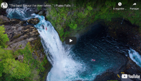 Dane Jackson run Puma Falls near Pucon in Chile a few weeks ago. Dane made a detour to check this beast as he was driving to the airport on his way back from running 134 ft Salto del Maule...