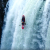 Spanish kayaker Jan Larrue running Tomata Falls in Mexico in his kayak.