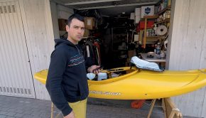 Extreme racer Michele Ramazza from Italy who - after a full on winter of training and kayaking - is stuck at home in Bologna, Northern Italy - right in the epicenter of the Covid-19 pandemic in Europe where hundreds are dying daily at the moment.