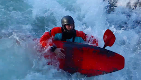 "kayaker swimming with his kayak in british colombia. Sometimes, Courage ""couldn't come at a worse time""... Sometimes, Courage provides us with great entertainment. Filmed in British Columbia with tunes by Canada's favourite band."