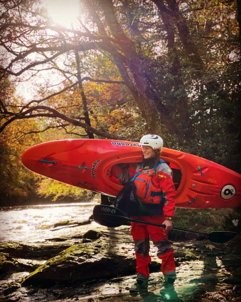British paddler Sal Montgomery, who is part time physio at home in the uk and part time kayak bum around the world.