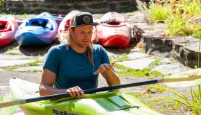 Benny Marr on top of being among the best whitewater paddlers ever, whether running big water, surfing humungous waves, or running monster waterfalls, has been practicing yoga for many years