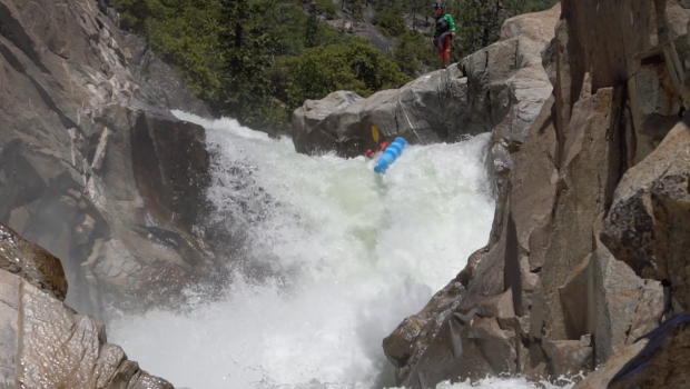 Axel Hovorka swimming the bottom half of the infamous Intouchables on the NF Mokelumne in California. Not your average rapid. Even less so out of your boat.