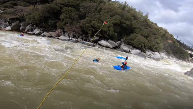 Dane Jackson gets back to an epic that took place last year in California on the South Yuba at high water, during which Evan Moore got beat and had to swim out of a super sticky hole.