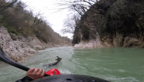 "kayaker Fabrizio ""Gass"" Capizzo who saved a deer from drowning while paddling with friends on the Candigliano river near San Marino in Italy."