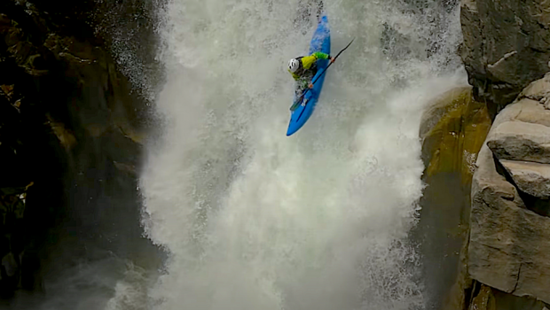 Evan Garcia, Nate Garcia, Dave Fusilli and Scott Lindgren paddle the Royal Gorge section of the North Fork of the American River in California.
