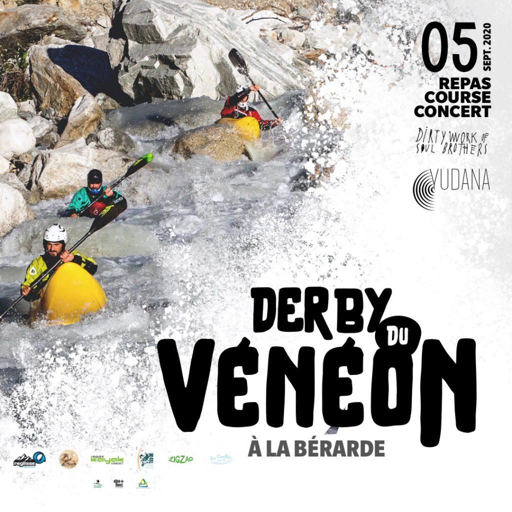 2020 derby du veneon extreme kayak race poster
