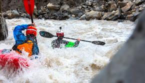 kayaking at high flows in Iran