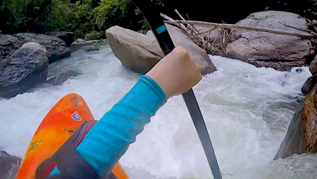 13 years old Alex Eddlemon kayak creeks in the southeast of the usa.