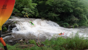 kayakers down the nantahala cascade