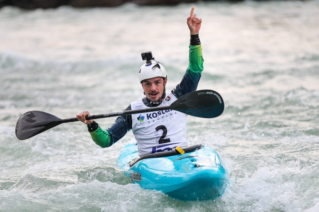 Brazilian Pedro Goncalves at the 2020 Extreme World Cup in Tacen (Slovenia)