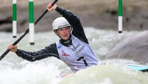 Evy Leibfarth wins prelims in both C1 and K1 at the 2020 ICF Slalom world cup slalom in tacen Slovenia