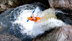 """Fun edit by the """"Caillettes Braisées"""" crew exploring the many ways to run a waterfall in a kayak. They found 11... the last being the most extreme by far. Shot on their local spot, the Dunière waterfall (Ardèche)."""