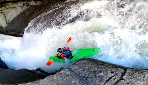 15 years old rager Dayton Pedrick kayaking Gorilla on the Green river near Saluda NC (Usa)