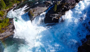 Belgium rider Yoran Jacobs kayaking waterfalls in Norway as part of his Highlight Reel