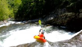 Cat Hardman kayaking